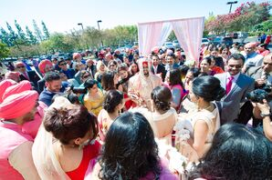 Bride's Family Greets Groom