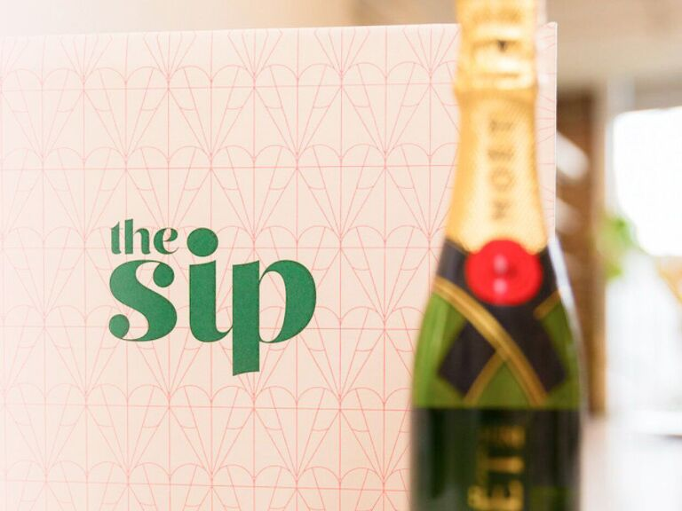 Champagne subscription wedding gift for bride
