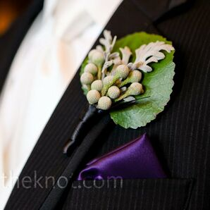 Dusty Miller and Berry Boutonniere