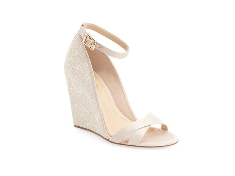 Vince Camuto Ivory Wedding Wedges