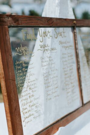 Rustic Windowpane Seating Chart