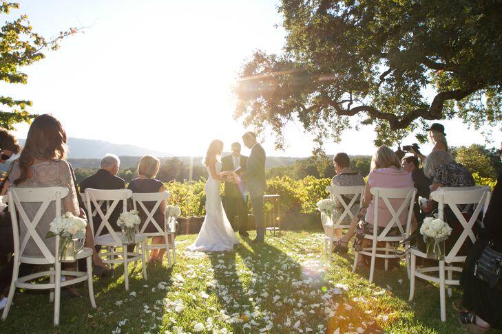 Intimate Outdoor Vineyard Wedding Ceremony