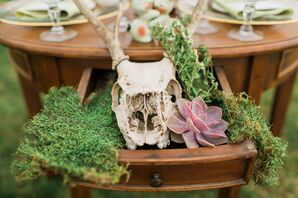 Deer Skull Reception Centerpiece