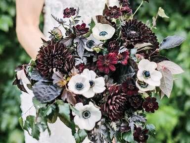 dark black and red bouquet