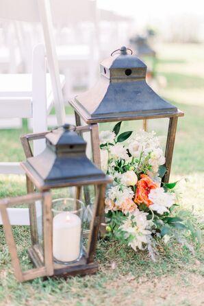 Vintage Wedding Aisle Decorations
