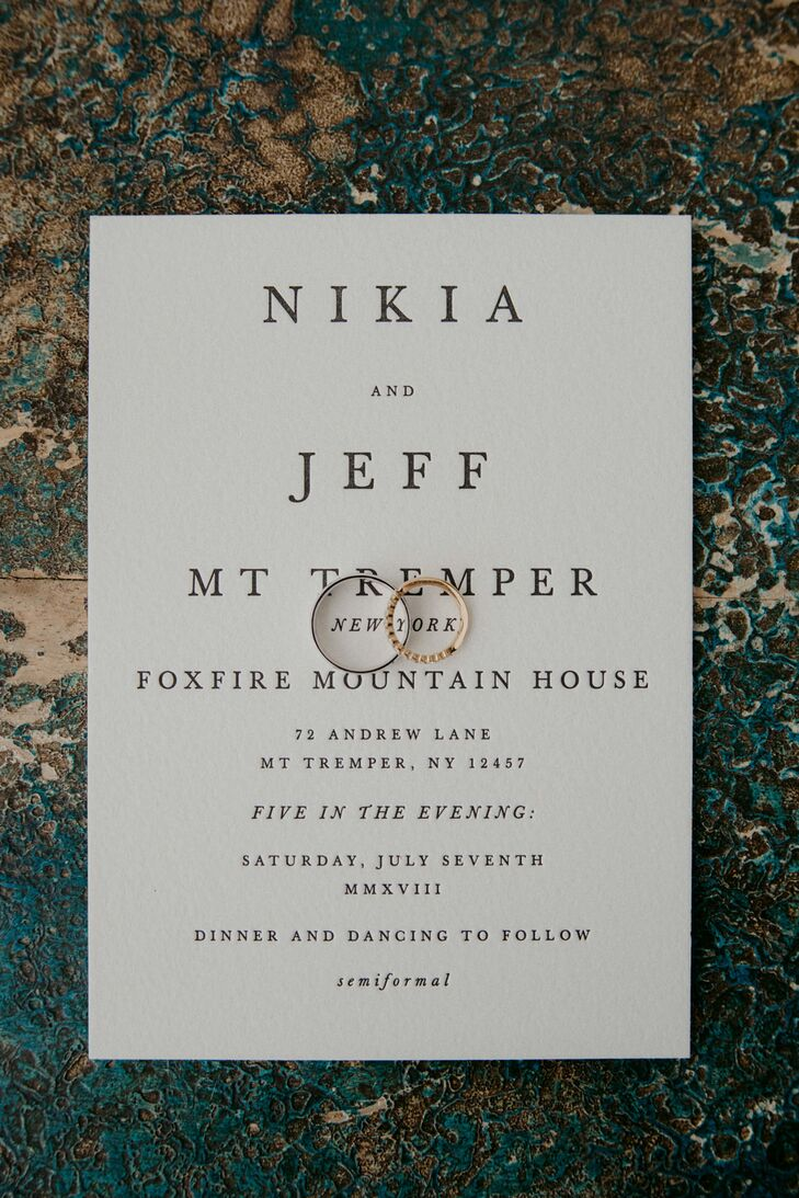 Simple Invitation with Classic Typography