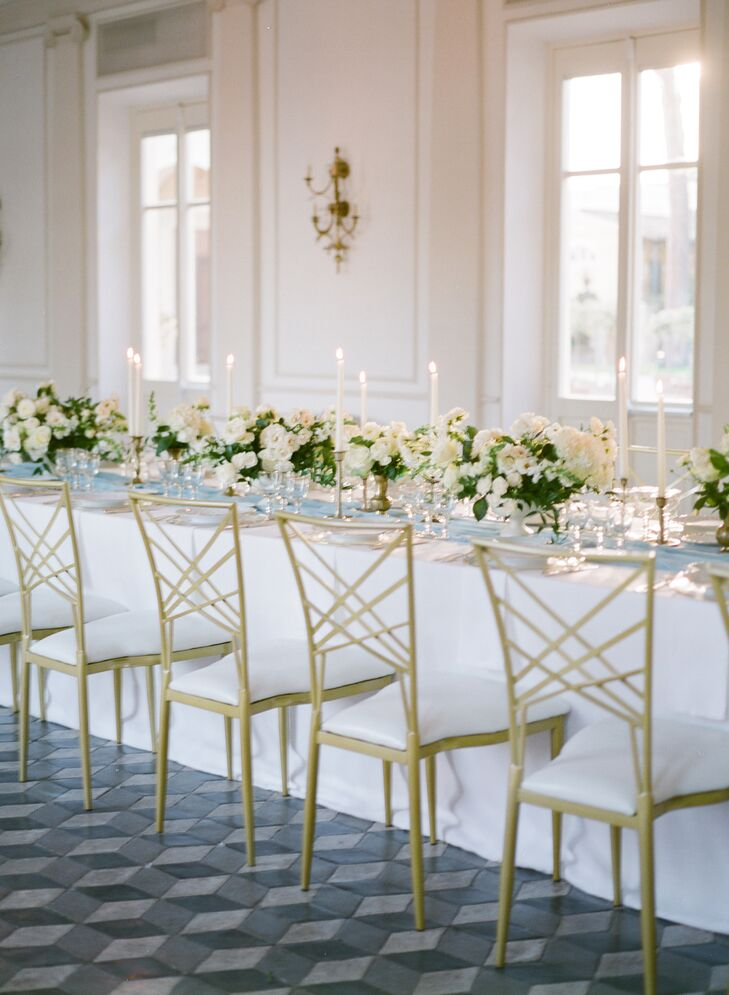 Formal Reception with White Linens and Centerpieces