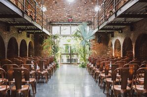 Palms Adorn the Chuppah at The Foundry