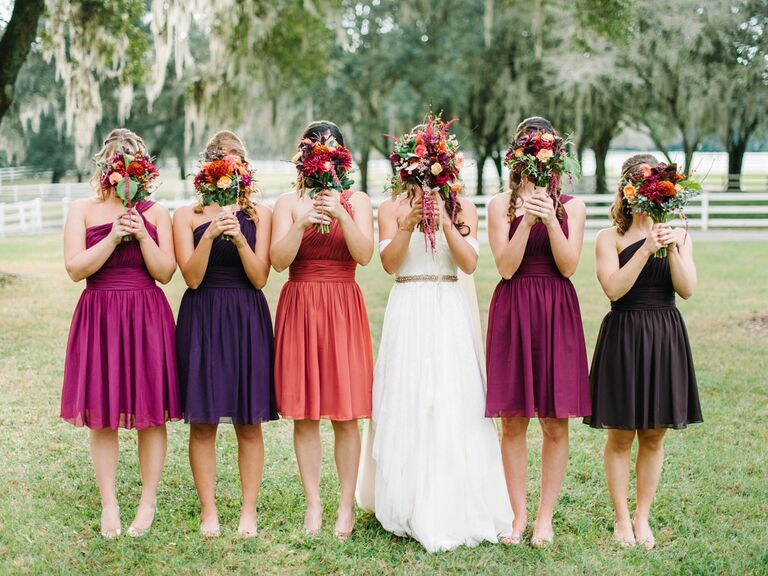 Fall is the new most popular wedding season fall wedding bridesmaids junglespirit Gallery