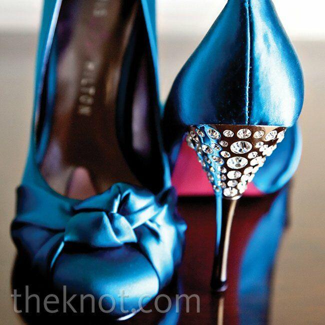 b7ef4901943d9a Blue Jeweled Wedding Shoes
