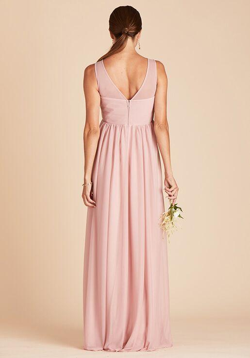 Birdy Grey Ryan Mesh Dress in Rose Quartz Illusion Bridesmaid Dress