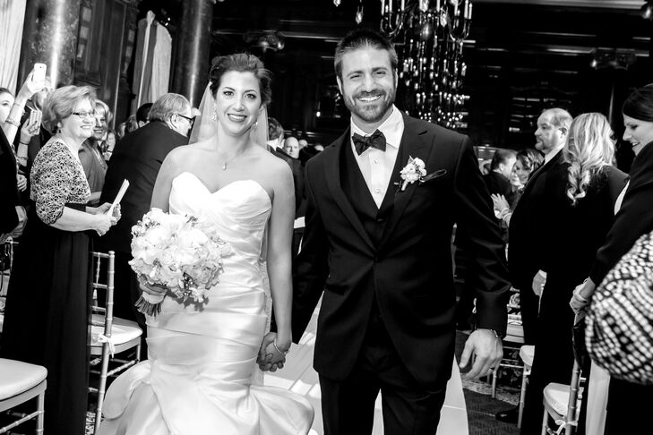 Recessional at Lavish DC Hotel Ballroom Wedding