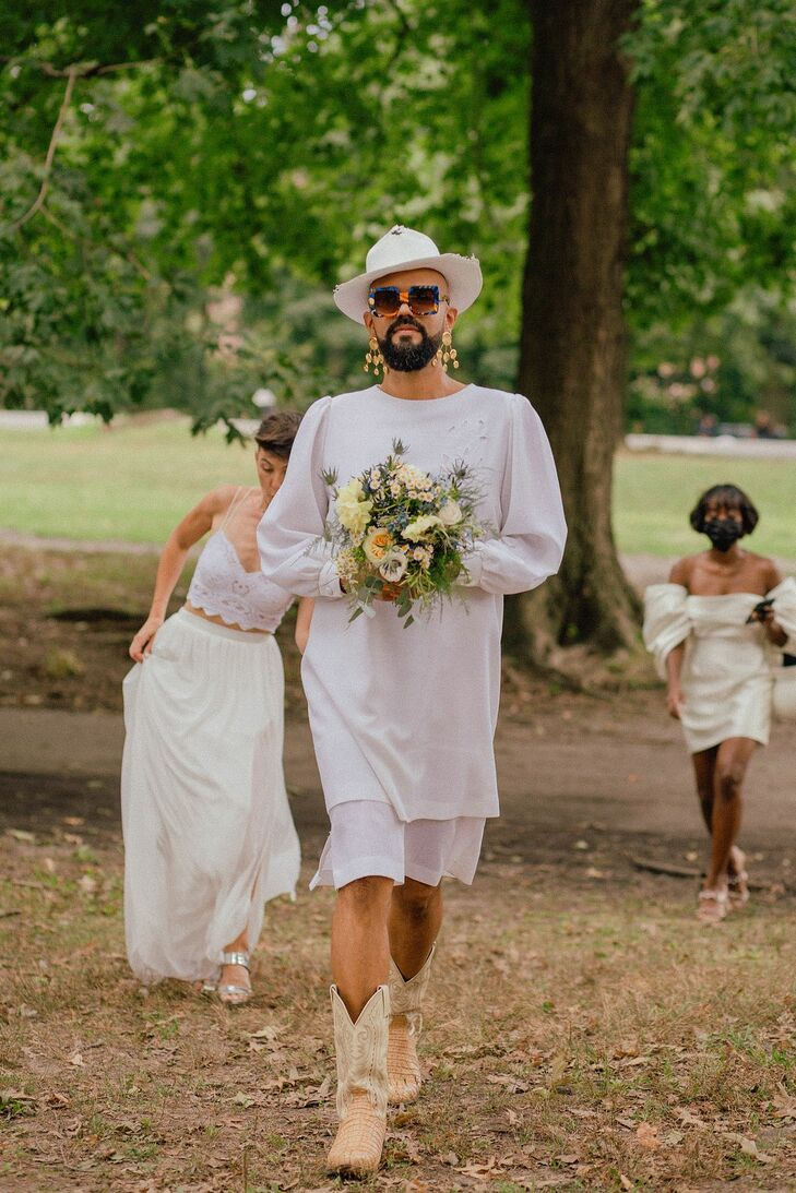 Wedding Party Processional at Prospect Park in Brooklyn