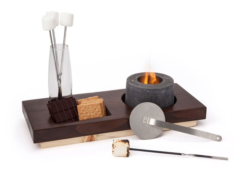 Indoor s'mores fire pit and accessories gift for son-in-law