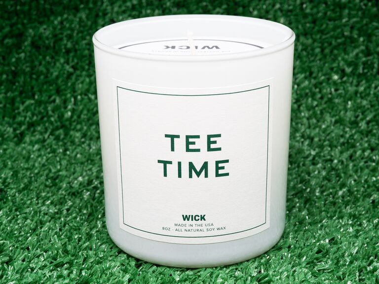 Tee Time scented candle gift for son-in-law
