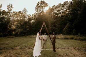 Sunset Backyard Wedding Ceremony in Durham, North Carolina