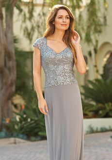 Jade Mother of the Bride by Jasmine J205065 Silver Mother Of The Bride Dress