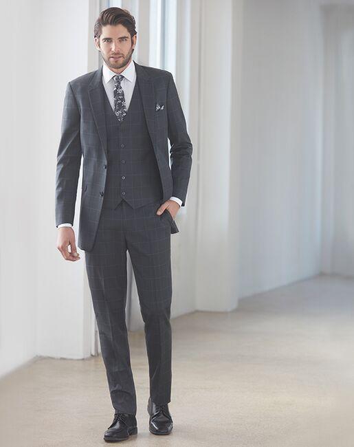 Allure Men Granite Window Pane Gray Tuxedo