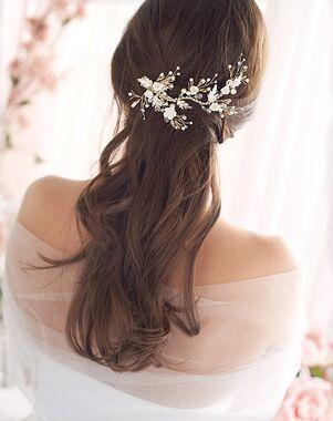 Dareth Colburn Gemma Rose Hair Clip (TC-2422-G) Gold Pins, Combs + Clip