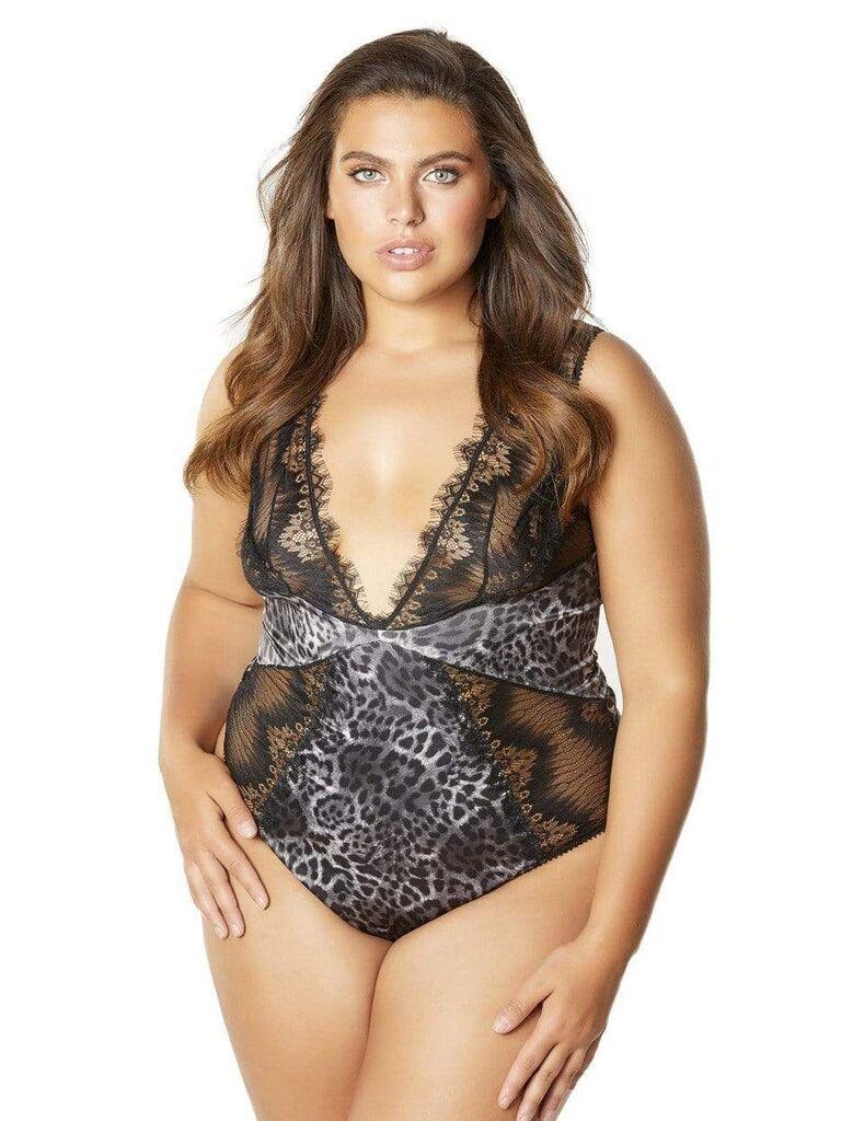 Leopard lace honeymoon lingerie