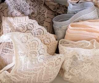 Lacy underwear folded neatly