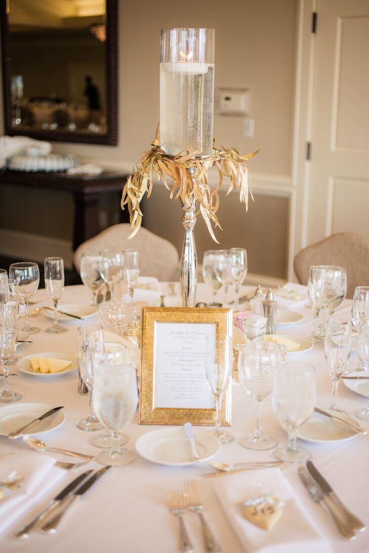 Gold And Ivory Dining Table Setting