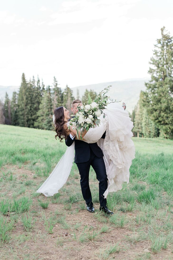 "As lovers of the outdoors, Elizabeth	Byrd and Max Macmaster chose to wed at Saddleridge at Beaver Creek in Colorado. ""We wanted to plan as much of the"