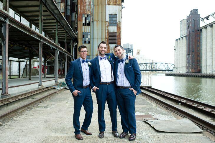 Classic Navy Groomsmen Suits