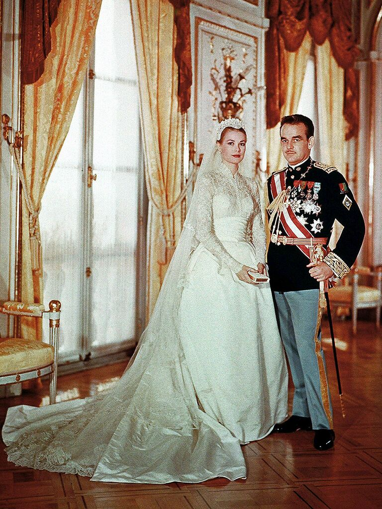 50 standout celebrity wedding dresses grace kelly wedding dress junglespirit Gallery