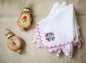 Bright Embroidered Bulgarian Handkerchiefs