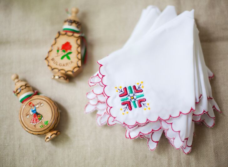 Bright Embroidered Bulgarian Handkerchiefs