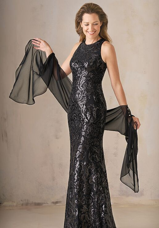 Jade Couture Mother of the Bride by Jasmine K208007 Black Mother Of The Bride Dress
