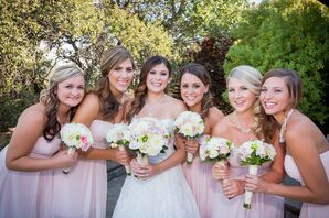 Light Pink Knee-Length Bridesmaid Dresses