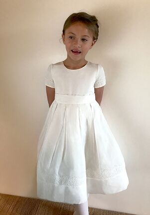 Isabel Garretón Poetry White Flower Girl Dress
