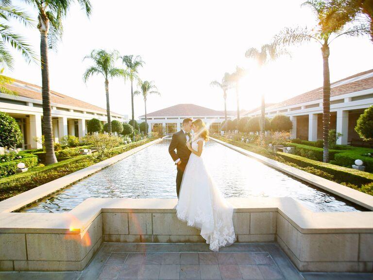 Library wedding venue in Yorba Linda, California.