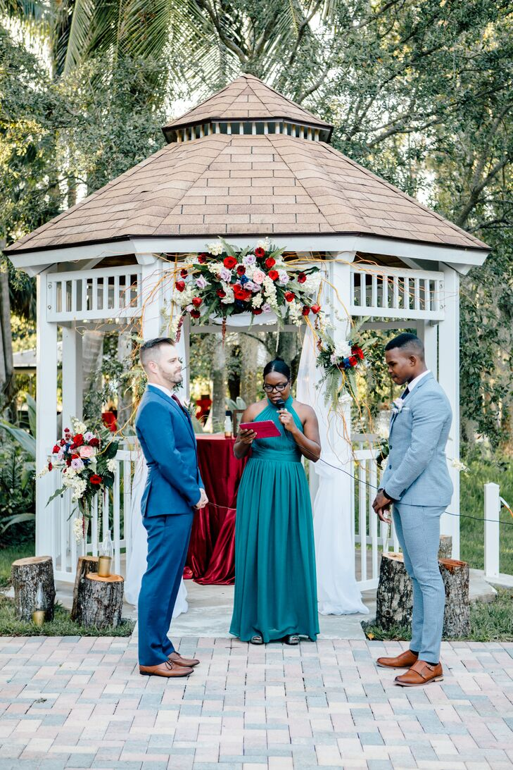 Ceremony at Richardson Historic Park in Wilton Manors, Florida