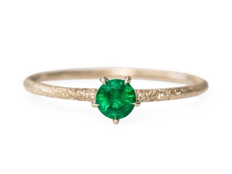 exquisite emerald birthstone ring