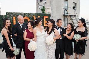 Black Knee-Length Bridesmaid Dresses
