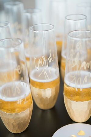 Stemless Champagne Flute Escort Cards