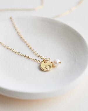Dareth Colburn Engraved Heart Necklace (JN-1705) Wedding Necklace photo