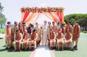 Gold Kurtas and Orange Dutappas