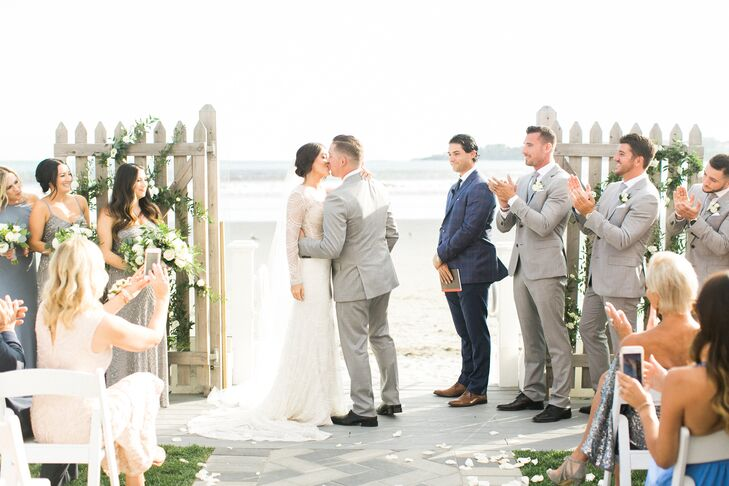 Ceremony at the Newport Beach House in Middletown, Rhode Island