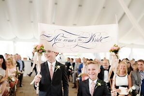 Whimsical Birch 'Here Comes the Bride' Banner
