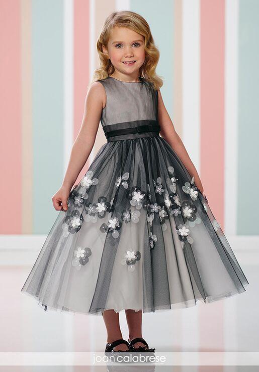 Joan Calabrese by Mon Cheri 216310 Black Flower Girl Dress