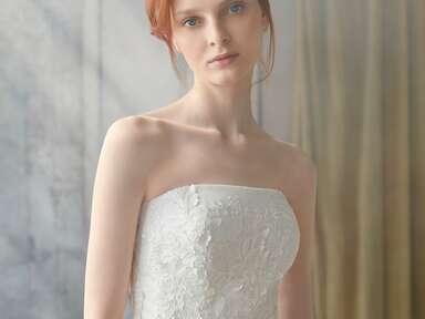 Sareh Nouri strapless floral wedding dress