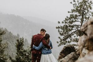 Snow Storm During Colorado Mountain Elopement