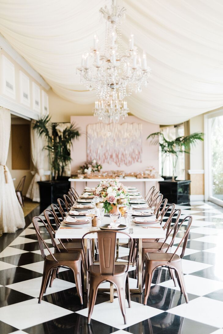 Romantic Reception with Copper Chairs