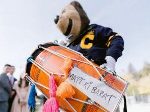 Mascot Dancing During Baraat Entrance at UC Berkeley Stadium in Berkeley, California