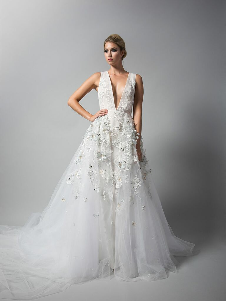 Randi Rahm Fall 2018 Wedding Dresses Gown With Liqué And Plunging Neckline