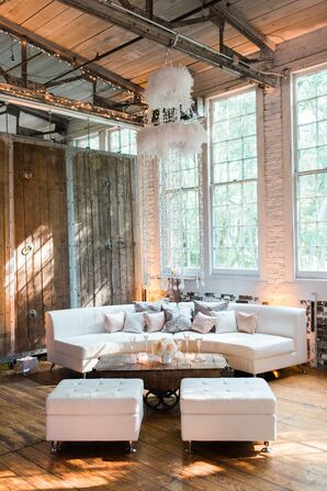 Modern Lounge Furniture with Crystal Chandelier